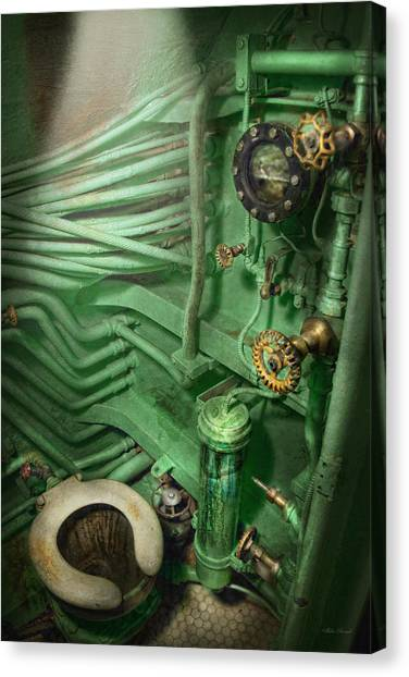 Steampunk - Naval - Plumbing - The Head Canvas Print