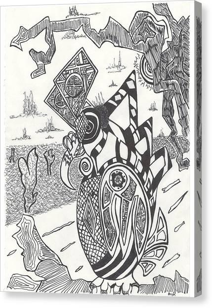 Steampunk Canvas Print - Steampunk Owl by Alexis Escobar