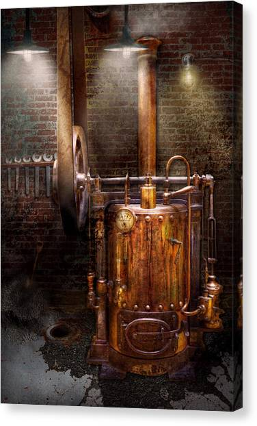 Plumber Canvas Print - Steampunk - Powering The Modern Home by Mike Savad