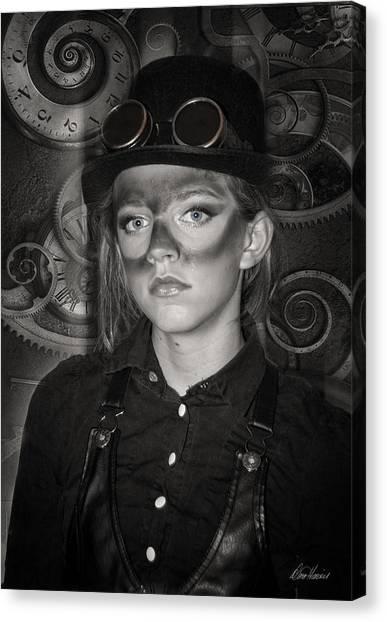 Steampunk Princess Canvas Print