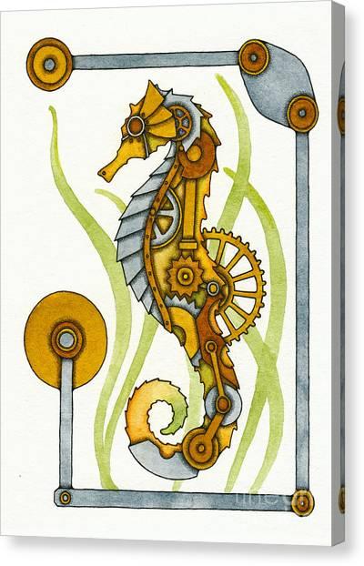 Steampunk Seahorse Canvas Print by Nora Blansett