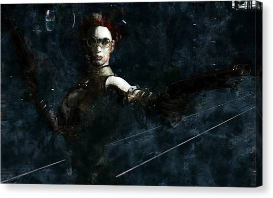 Steampunk Stand-off Canvas Print