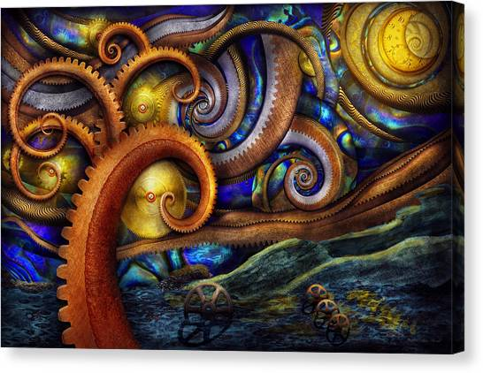 Fibonacci Canvas Print - Steampunk - Starry Night by Mike Savad