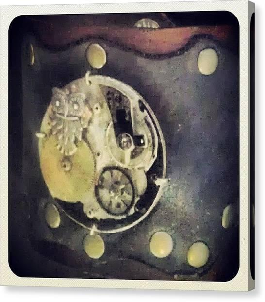 Steampunk Canvas Print - #steampunk #steampunkcuff by Claudia Garcia Trejo
