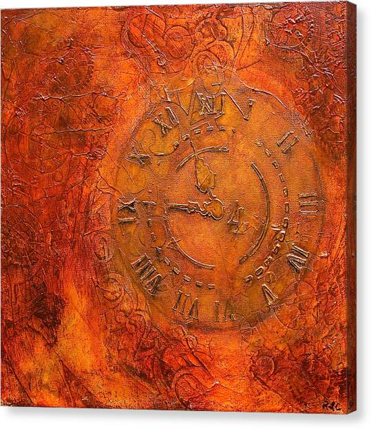Clockwork Orange Canvas Print - Steampunk Time by Bellesouth Studio