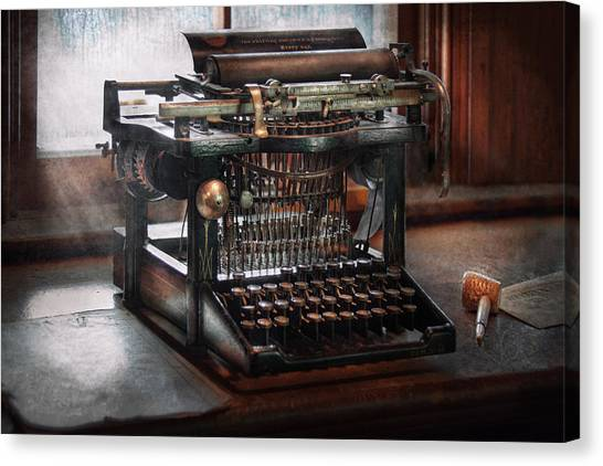 Dreamer Canvas Print - Steampunk - Typewriter - A Really Old Typewriter  by Mike Savad
