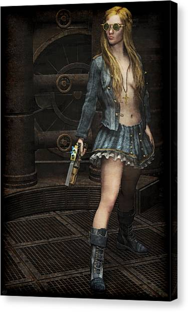 Steampunk Vixen Canvas Print