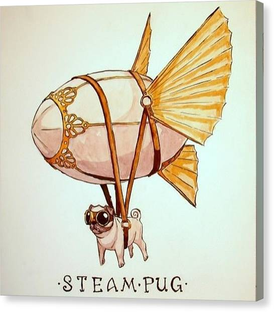Steampunk Canvas Print - #steampunk by Willem Van Zyl