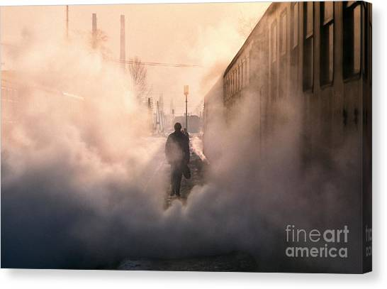 Eastern Europe Canvas Print - Steamy Station by Rod McLean