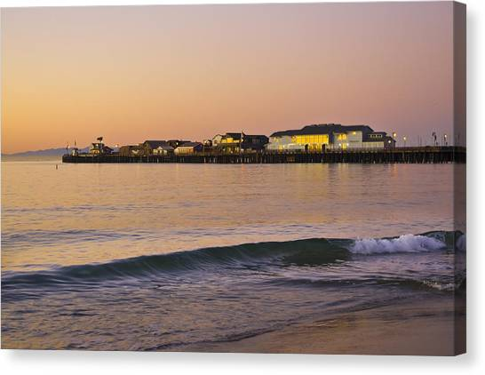 Stearns Wharf At Dawn Canvas Print