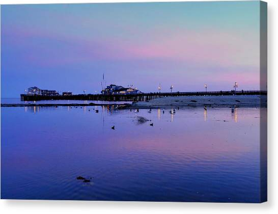 Stearn's Wharf Over Pond Canvas Print