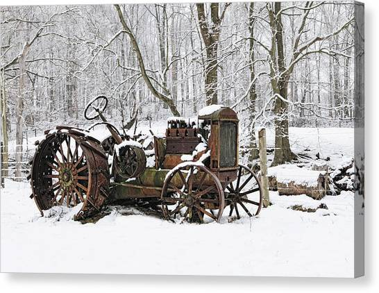 Steel And Snow Canvas Print