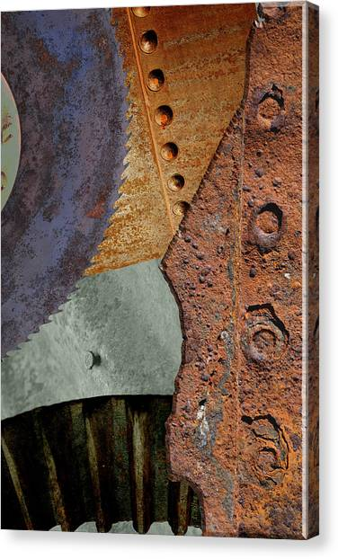 Steel Collage Canvas Print