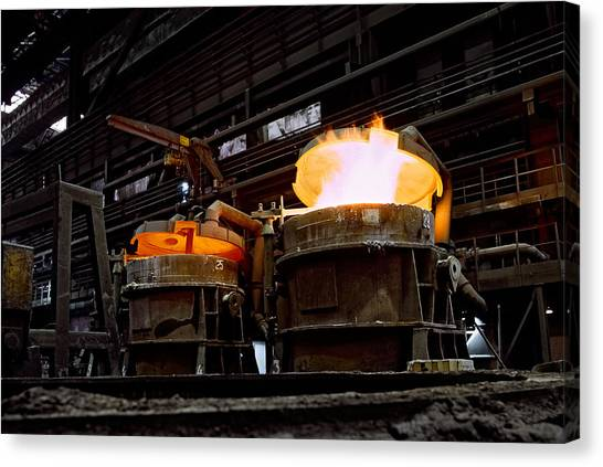 Steel Industry In Smederevo. Serbia Canvas Print
