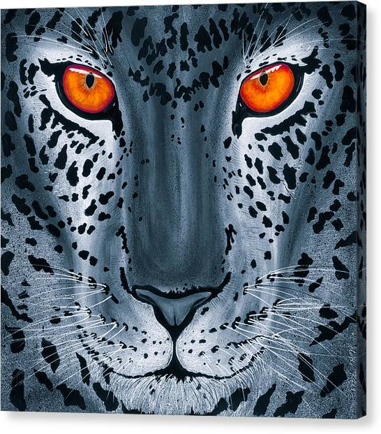 Steel Leopard Canvas Print