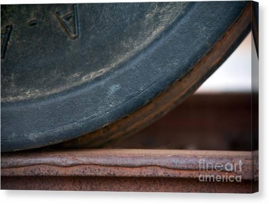 Freight Trains Canvas Print - Steel Wheel by Dan Holm