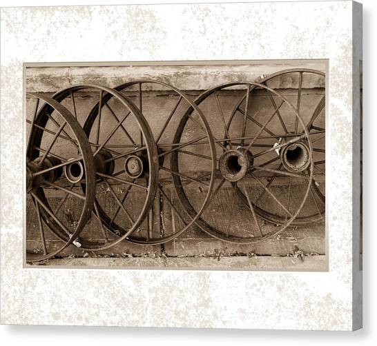 Steel Wheels Canvas Print