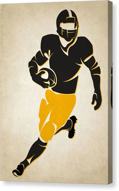 Football Canvas Print - Steelers Shadow Player by Joe Hamilton