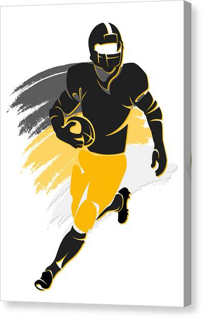 Pittsburgh Steelers Canvas Print - Steelers Shadow Player2 by Joe Hamilton