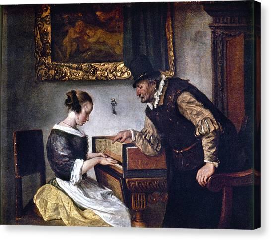 Harpsichords Canvas Print - Steen Harpsichord Lesson by Granger