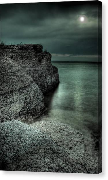 Manitoba Canvas Print - Steep Rock Moon by Bryan Scott