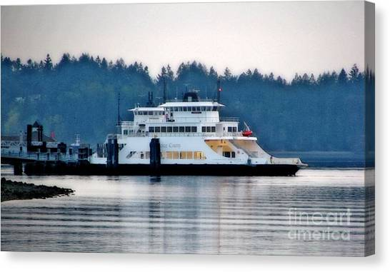 Steilacoom Ferry At Dusk Canvas Print
