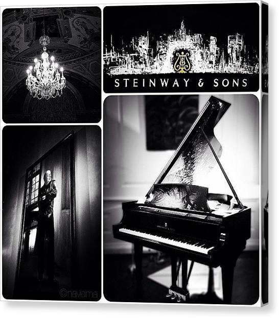 Piano Canvas Print - Steinway & Sons by Natasha Marco