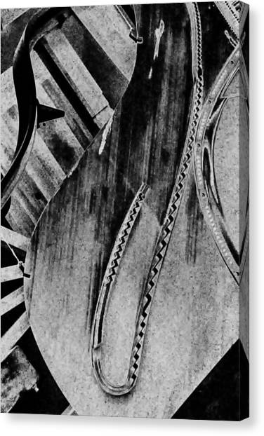 Steinway Black And White Inners Canvas Print