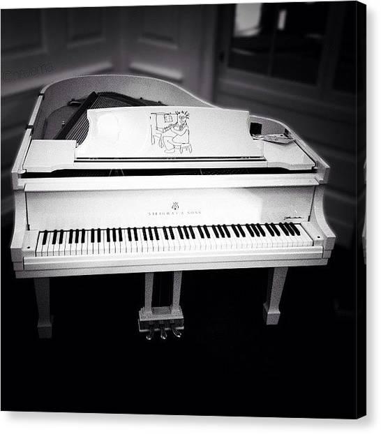 Piano Canvas Print - Steinway's John Lennon 'imagine' by Natasha Marco