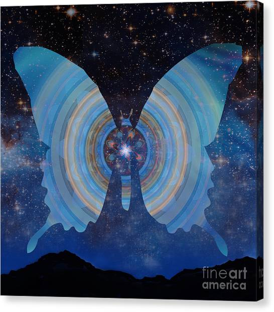 Stellar Butterfly Canvas Print
