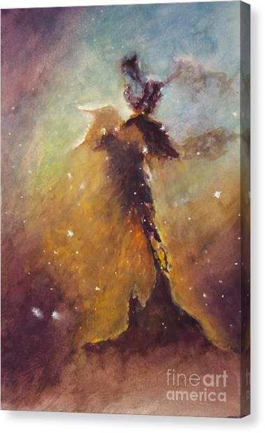 Stellar Spire In The Eagle Nebula Canvas Print