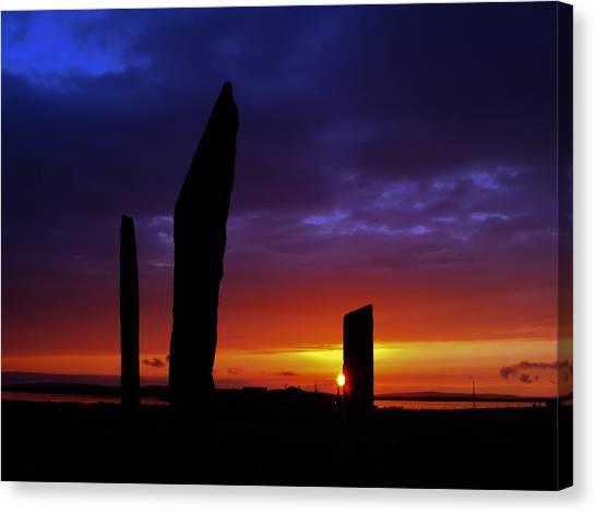 Stennes Sunset Canvas Print by Steve Watson