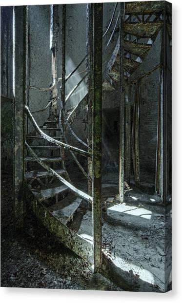 Step Canvas Print by Akos Kozari