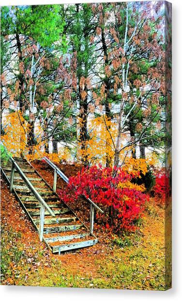 Step Into Autumn Canvas Print