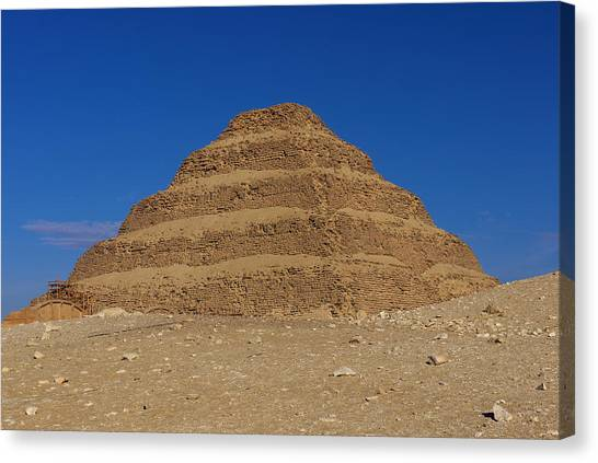 Step Pyramid Of King Djoser At Saqqara  Canvas Print