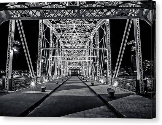 Step Under The Steel Canvas Print