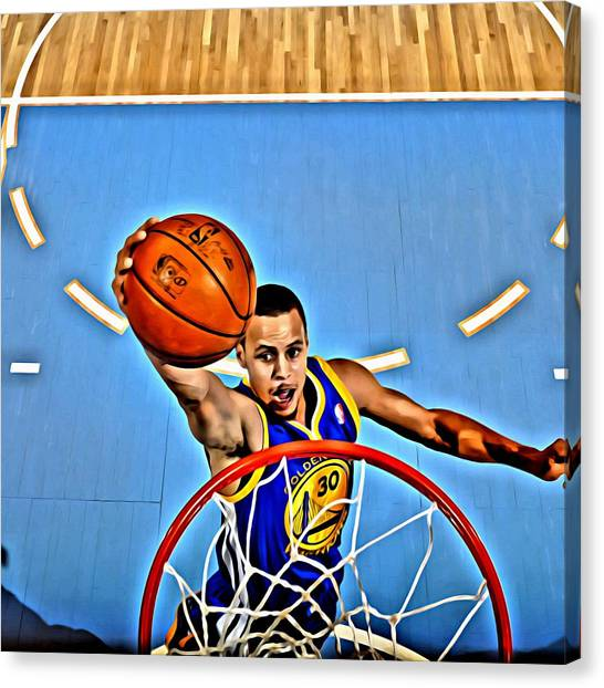 Stephen Curry Canvas Print - Steph Curry by Florian Rodarte