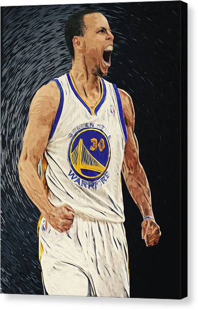 Stephen Curry Canvas Print - Stephen Curry by Zapista