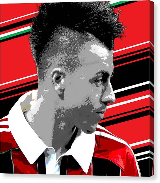 Inter Milan Canvas Print - Stephen El Shaarawy Ac Milan Print by Pro Prints