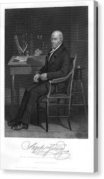 Stephen Girard  American Statesman Canvas Print by Mary Evans Picture Library