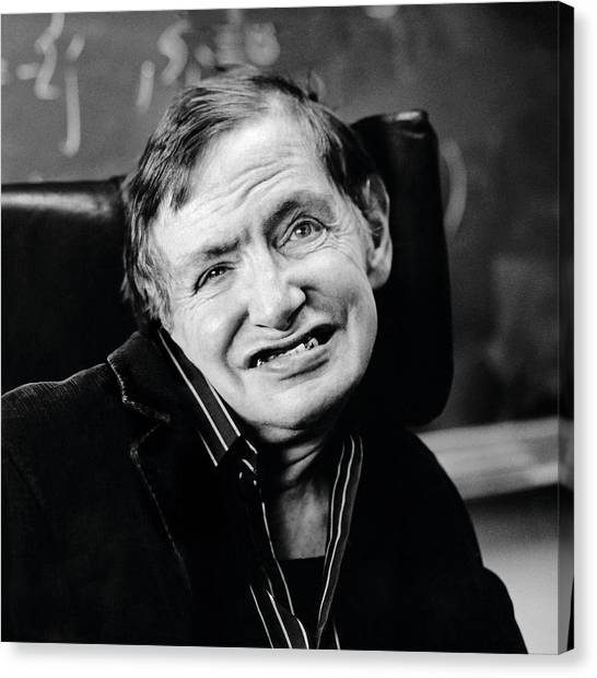 Stephen Hawking Canvas Print by Lucinda Douglas-menzies