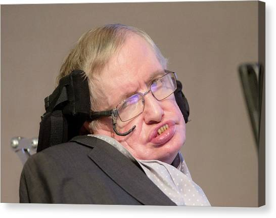 Professors Canvas Print - Stephen Hawking by Mark Thomas