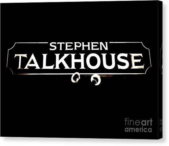Stephen Talkhouse Canvas Print