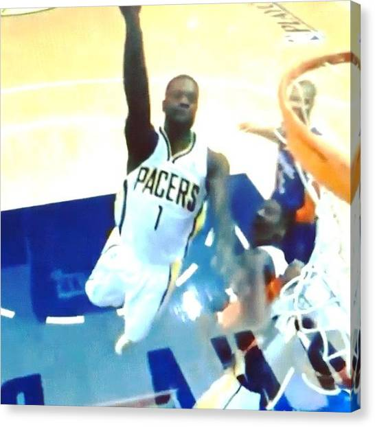 Indiana Pacers Canvas Print - @stephensonlance The X Factor #indiana by Kyle Walker