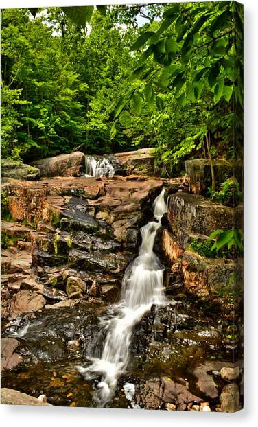 Stepped Falls - Ellsworth New Hampshire Canvas Print by Naturally NH
