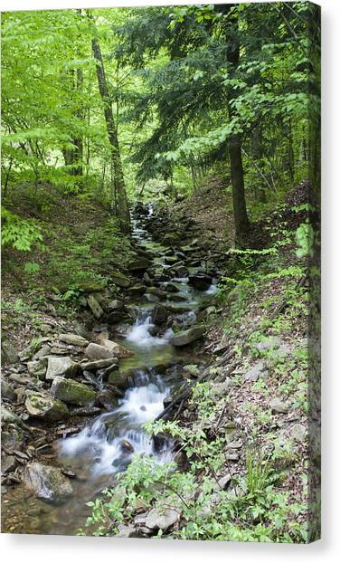 Stepped Water Fall Canvas Print