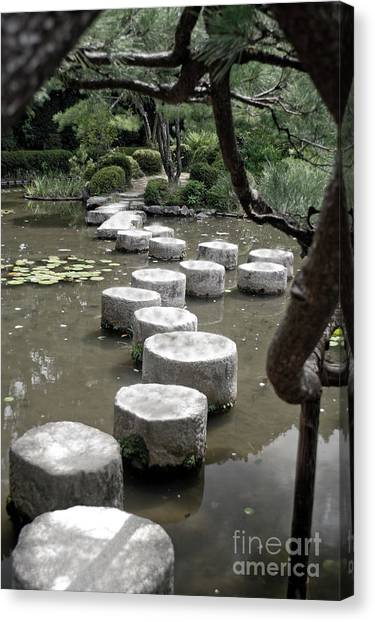 Stepping Stone Kyoto Japan Canvas Print