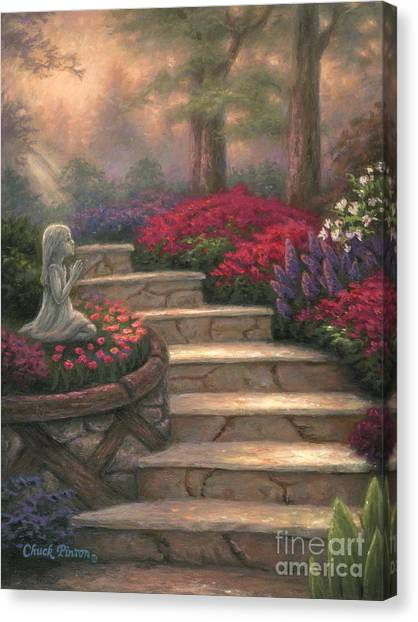 Heaven Canvas Print - Steps Of Providence by Chuck Pinson