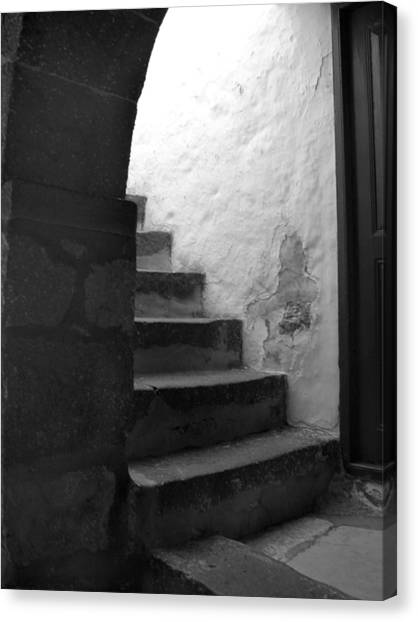 Steps On Patmos Canvas Print