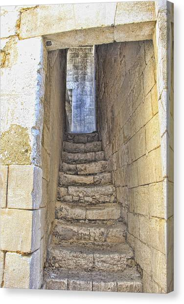 Steps To Matera Canvas Print